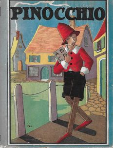 Pinocchio; lot with 9 illustrated books in various languages - 1916/2007