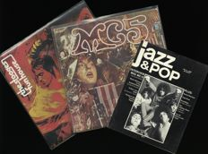 """Lot including the 1969 albums """"Funhouse""""  by Iggy & Stooges and """"Kick out the jams (uncensored!) by The MC 5"""