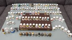 """Collection of 116 thimbles + book """"Thimbles"""" by Edwin F. Holmer"""