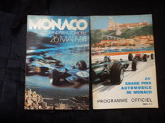 Grand Prix Monaco - 2 original catalogues from 1966 and 1974
