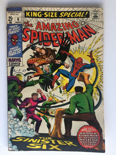 "Marvel Comics - The Amazing Spider-Man Annual #6  - ""The Sinister Six"" - 1x sc - (1969)"