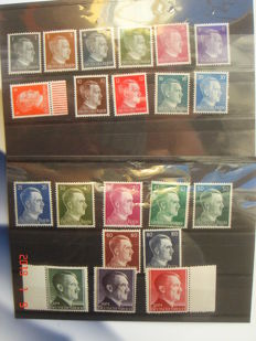 Germany 1941 - Lot of HITLER stamps