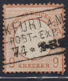 German Reich 1872 - 9 kr Michel no. 27/a