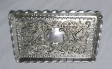 Embossed Tray in Spanish Silver