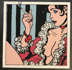 "Pratt, Hugo - silk screen print ""Esmeralda"", first edition (1990)"