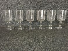 Baccarat - 6 crystal water glasses model 'Richelieu Cylindrique'