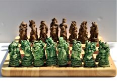 Old chess set from Mongolia