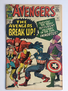 "Marvel Comics - The Avengers #10 - Intro & 1st appearance Immortus""- 1x sc - (1964)"