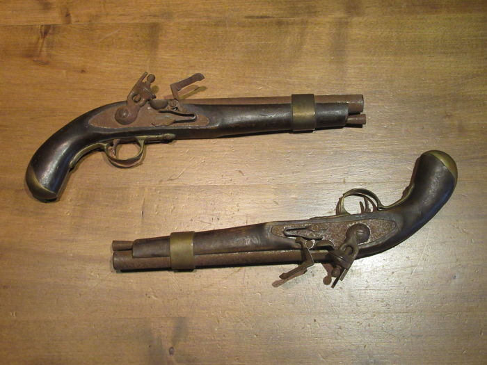 Nice pair of flintlock pistols