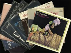 Ladies on vinyl - Lot of 9 high condition records by Bessie Smith (2LP), Peggy Lee (2), Maaike Nicola (3), Sarah Vaughan, Helen Reddy and Lana Cantrell