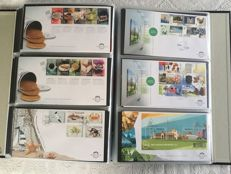 The Netherlands 2010/2017 - Collection of FDCs in 2 Davo LX albums