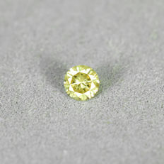 Fancy Yellow Diamond – 0.23 ct, NO RESERVE PRICE