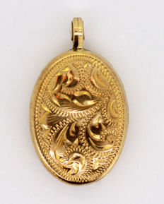 9K Gold Locket Pendant, London 1989