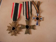 Lot of 3 German medals WW2