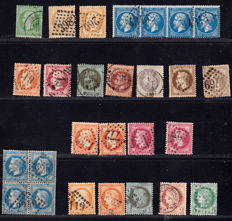 France 1862/1929 – Selection of 84 stamps – between Yvert 20 and 262.