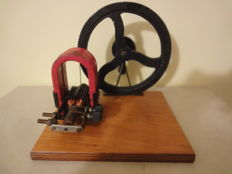 A school model of an Electrical Generator -1960, Poland; good condition; metal, wood, plastic