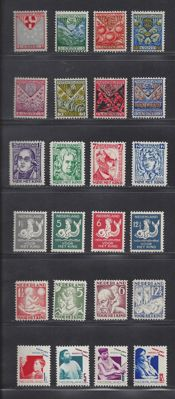 The Netherlands 1926/1931 - Six complete series of child relief stamps