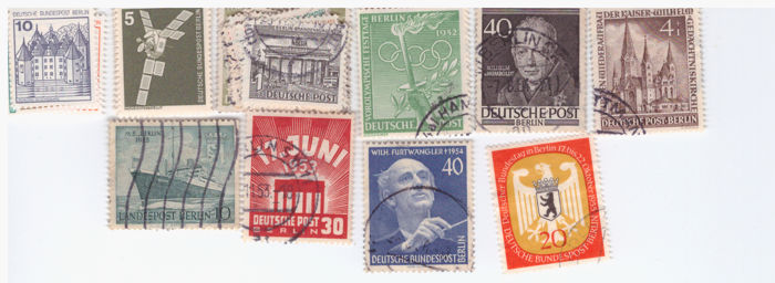 Lot of Germany FRG Berlin 1969-1987