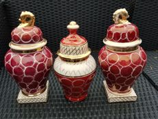Set of 3 Laeken Belgium ginger jars with lid