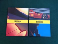 Lot of no. 2 Ferrari magazine + Ferrari book + no. 7 sticker album