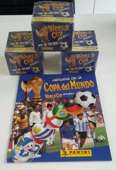 Panini - World Cup Story - Empty album + 3 sealed boxes
