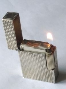 S.T. Dupont lighter - Paris line 1 B R - silver plated - working
