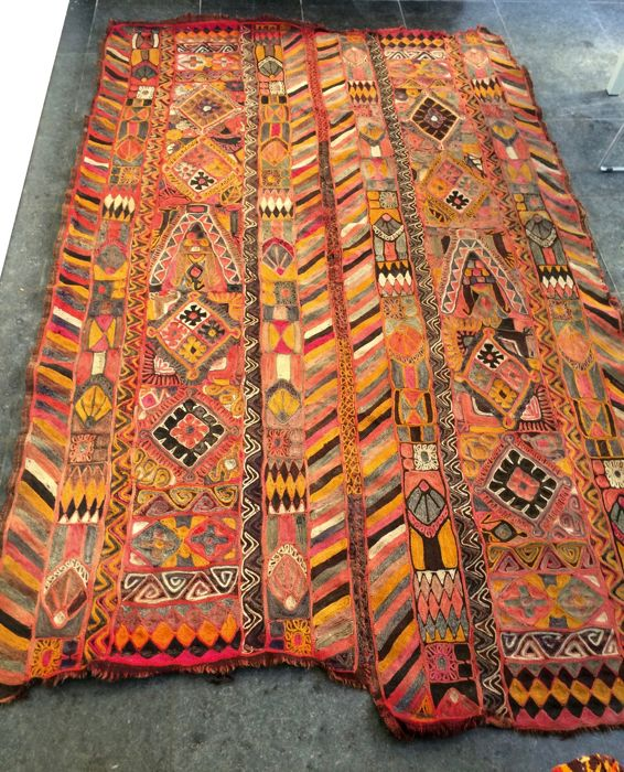 Double-laned Eastern rug, 230 x 156 cm