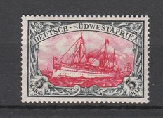 German colonies 1906 - German South West Africa - postage stamp emperor's yacht, 5 Mark - Michel no. 32Aa