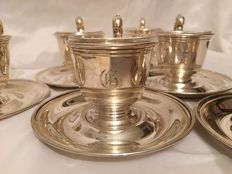 Sterling Silver Coffee Set of Six, Frank. M. Whiting & CO, USA 1920's