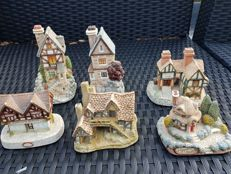 A collection of memory  lane cottages by Peter tomlins