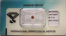 Natural Fancy Deep Greyish Pink Diamond 0.17 ct  with IGI cert ***No minimum price***