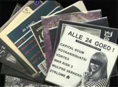 Lot of 11 Punk and Hardcore albums by de Artsen, Zyanose, Doomsday Hour, Antidote, Neuroot, Isterismo, Chaos Destroy, Nomad, Malefice and others