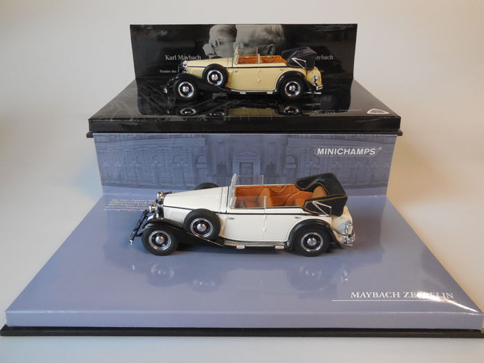 Minichamps Scale 143 Lot With 2 X Maybach Zeppelin Ds 8 1932