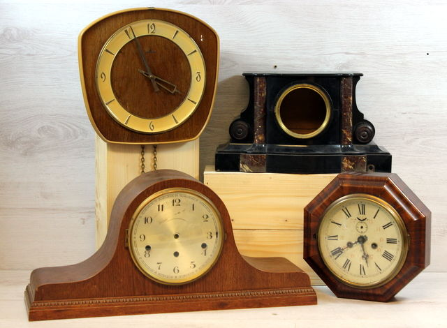 Clock Parts Wooden Cases 4x Catawiki