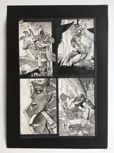 Simon Bisley - Original Art Page - Pencil, Pen & Ink - Tower Chronicles Vol 2 #1 - Page 20 - (2014)