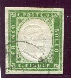 Sardinia 1855/1863 - selection of 5 values from the 4th issue