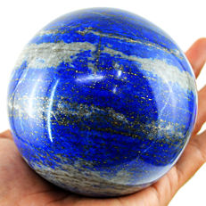 "Large Blue lapis Lazuli  ""healing ball"" - 98 mm - 1076 gm"