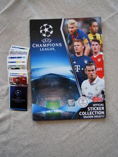 Variant Panini - Topps - Champions League 2016/2017 Empty Album + 248 stickers + Empty album Champions League 2015/2016.