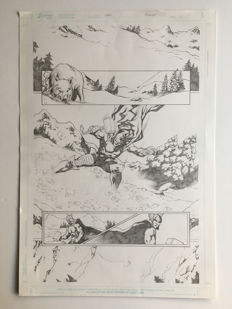Gardenio Lima - Original Art Page - Pencil - Thor - EdBenes Studio
