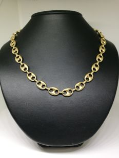 Anchor chain necklace in 18 kt (750) gold - 60 cm