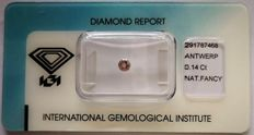 Natural Fancy Light Pink Diamond 0.14 ct  with IGI cert ***No minimum price***