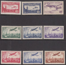France 1930/1936 - Various airmail stamps - Yvert nos. 5/13