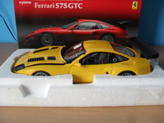 Kyosho - Scale 1/18 - Ferrari 575 GTC 2004 - Yellow