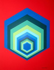 Victor Vasarely (after) - Untitled