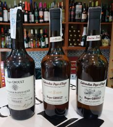 Roger Groult, Calvados Pays d'Auge: 11 years old - Sherry Cask & Reserve 3 years old & 8 years old - 3 bottles in total