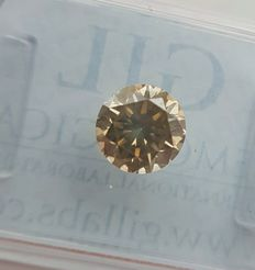1.02 ct - Natural Diamond - Fancy Greenish Yellow, SI2 *Low Reserve*