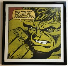 The Incredible Hulk - Framed Comic Poster