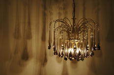 Unkown designer  - Waterfall Chandelier with crystals