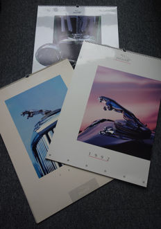 3x original Jaguar Germany calendar 1990 - 1992 - 1994
