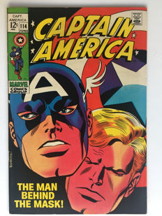 Marvel Comics - Captain America #114 - 1x sc - (1969)